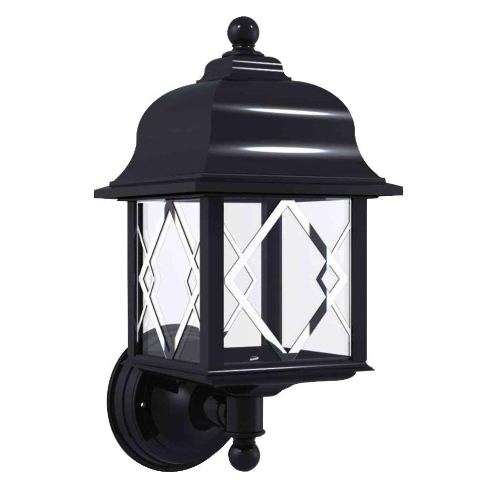 Newport Coastal Spyglass Black Outdoor Wall-Mount Uplight-7972-15B ...