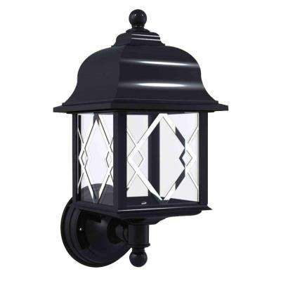 Spyglass Black Outdoor Wall-Mount Uplight