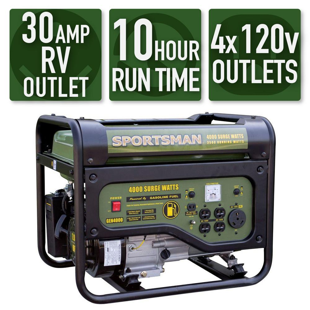 Pleasant Sportsman 4 000 3 500 Watt Gasoline Powered Portable Generator With Rv Outlet Download Free Architecture Designs Scobabritishbridgeorg