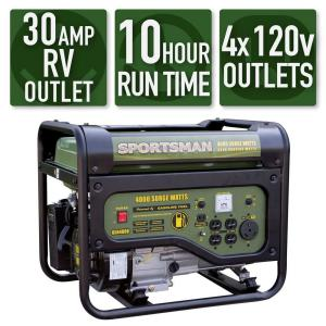 Sportsman 4,000/3,500-Watt Gasoline Powered Portable Generator with RV  Outlet-801187 - The Home Depot