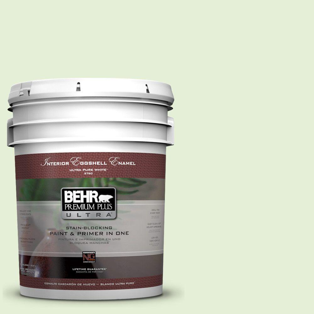 BEHR Premium Plus Ultra 5-gal. #430C-2 Spring Morn Eggshell Enamel Interior Paint