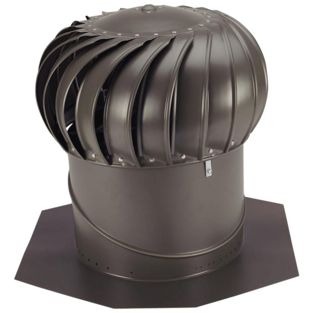 14 in. Weathered Bronze Aluminum Internally Braced Wind Turbine