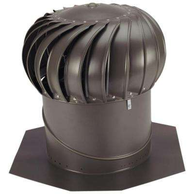 14 in. Weathered Bronze Aluminum Internally Braced Wind Turbine