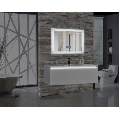 Encore BLU102 48 in. W x 27 in. H Rectangular LED Illuminated Bathroom Mirror with Bluetooth Audio Speakers