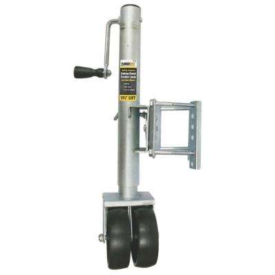 26-1/2 in. to 38 in. 1500 lbs. Capacity Lift Swing Back Trailer Jack with Dual Wheels