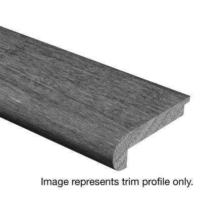 Hand Scraped Fremont Walnut 3/8 in. Thick x 2-3/4 in. Wide x 94 in. Length Hardwood Stair Nose Molding
