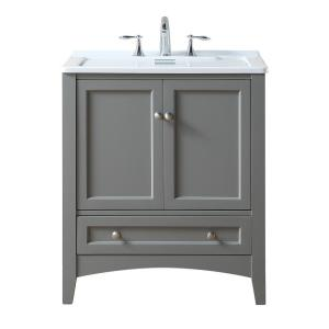 stufurhome Manhattan 30.5 inch x 22 inch Acrylic Laundry Sink in Gray by stufurhome
