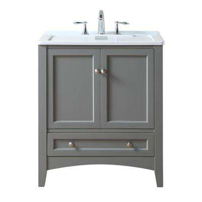 Manhattan 30.5 in. x 22 in. Acrylic Laundry Sink in Gray
