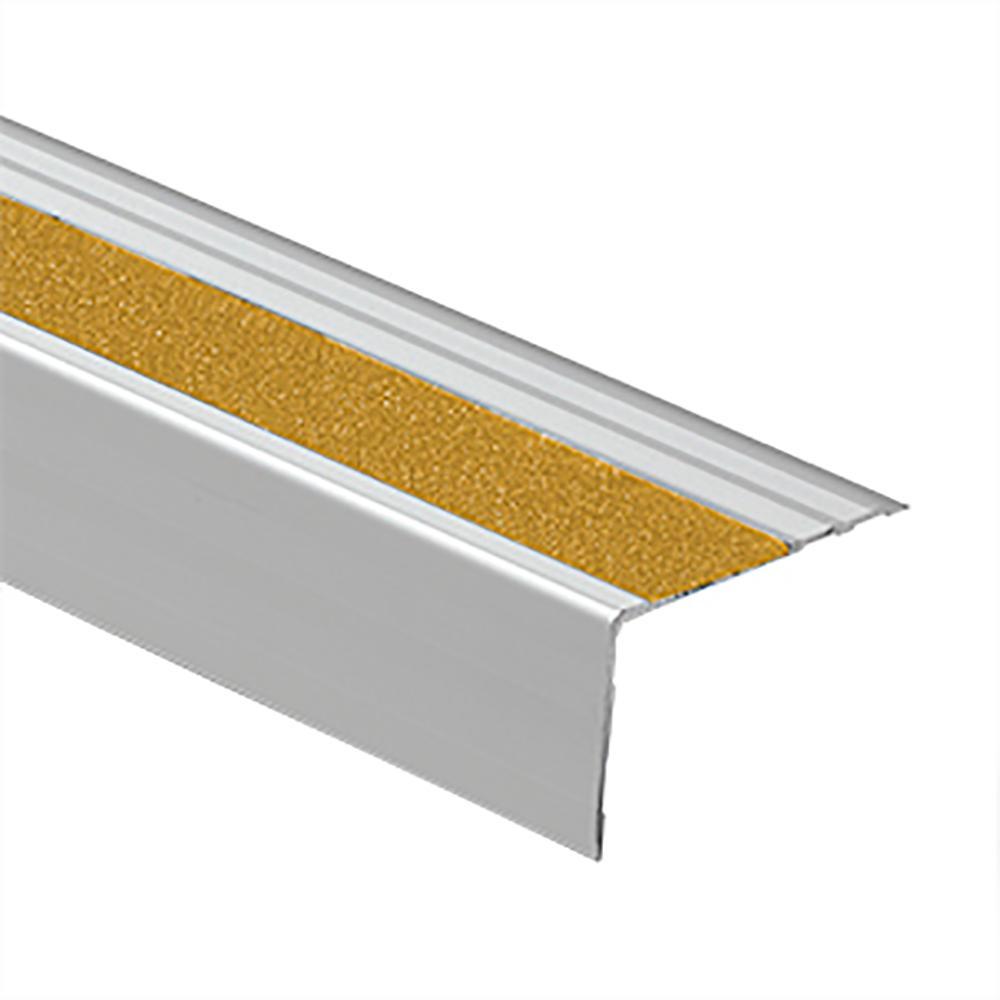 Novopeldano Safety Matt Silver-Yellow 2-1/2 in. x 98-1/2 in. Aluminum Tile Edging Trim