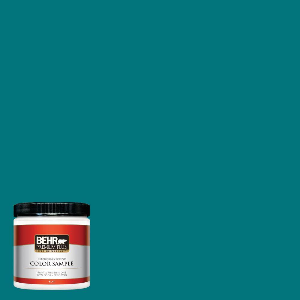 8 oz. #T15-3 Essential Teal Zero VOC Interior/Exterior Paint Sample