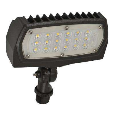 ProLED 12-Watt Bronze Outdoor Integrated LED Landscape Small Flood Light Fixture