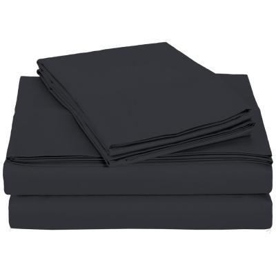 4-Piece Charcoal Microfiber Twin XL Sheet Set