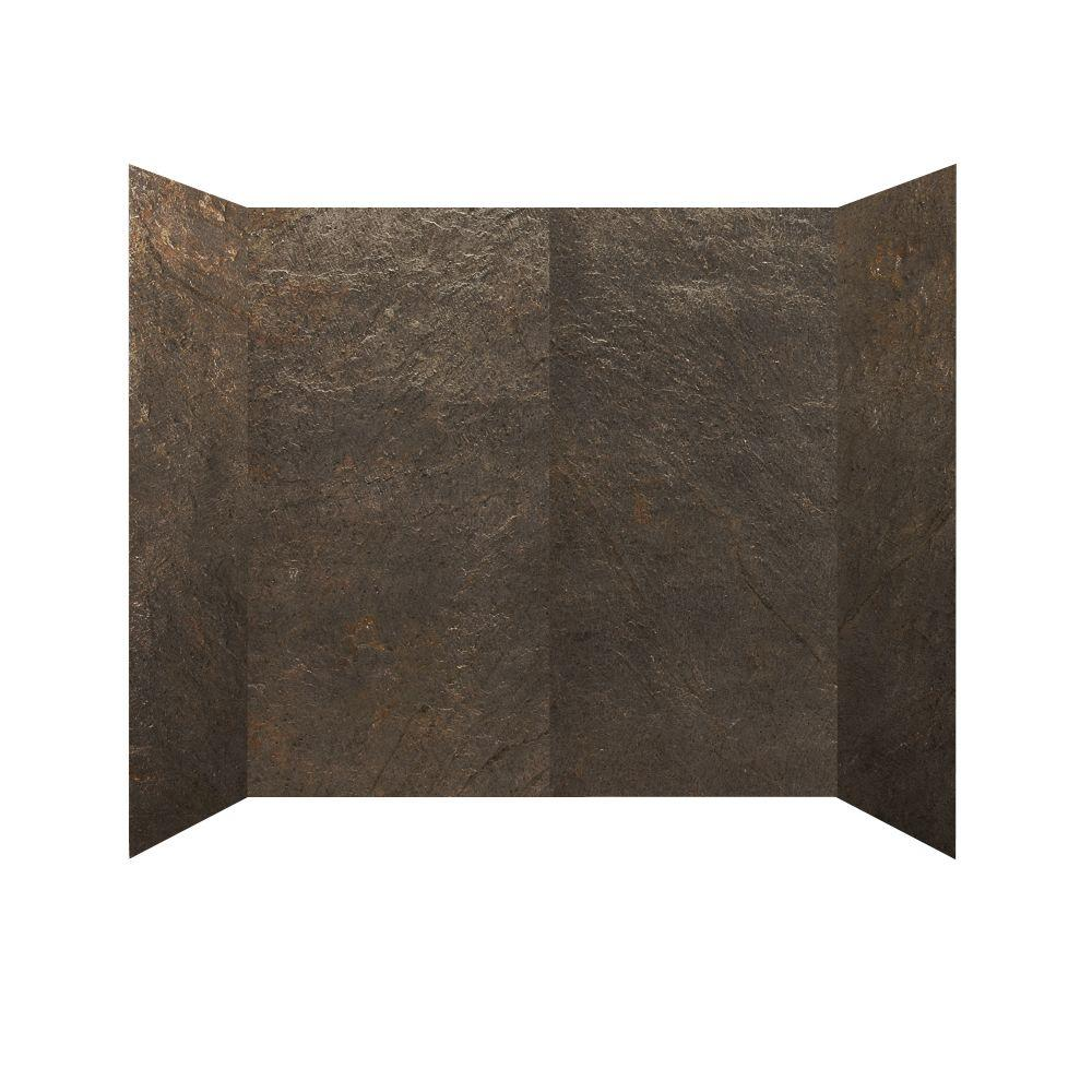 null 30 in. x 60 in. x 60 in. 4 Panel Tub Surround in Verde River Enhanced-DISCONTINUED