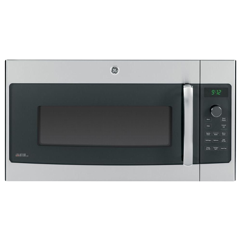 Ge Profile 1 7 Cu Ft Over The Range Microwave In Stainless Steel With Sdcook