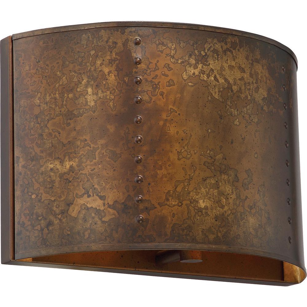 1-Light Weathered Brass Bath Light