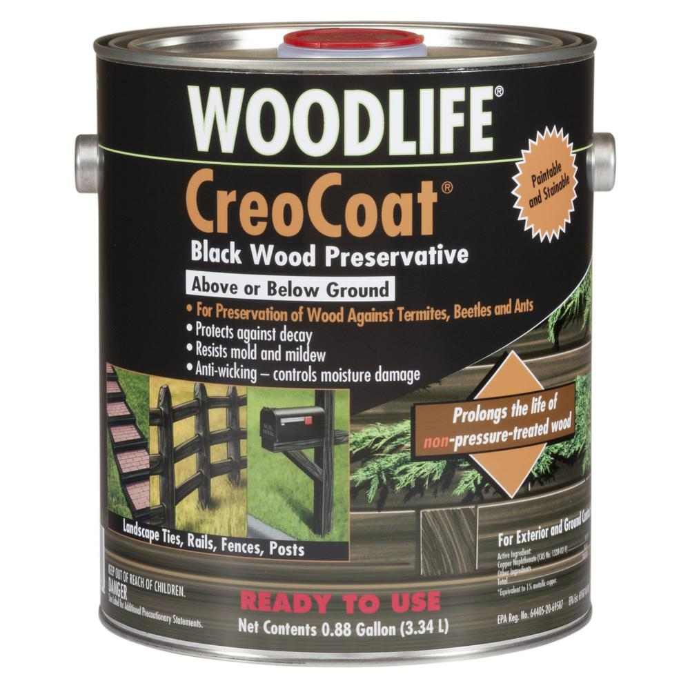 Wolman 0.88 Gal. CreoCoat Black Water-Based Exterior Wood Preservative (4-Pack)