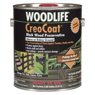 WOODLIFE .88 gal. CreoCoat Black Water-Based Exterior Wood Preservative (4-Pack)