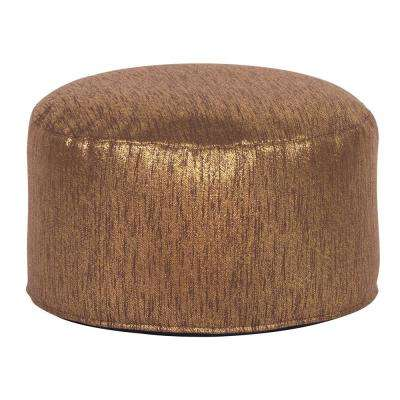 Foot Pouf Glam Chocolate Brown Ottoman