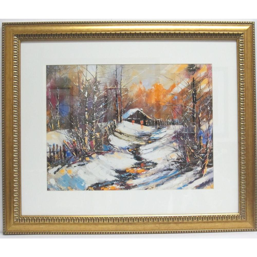 null 30.6 in. x 26.1 in. A Winter Evening Framed Wall Art