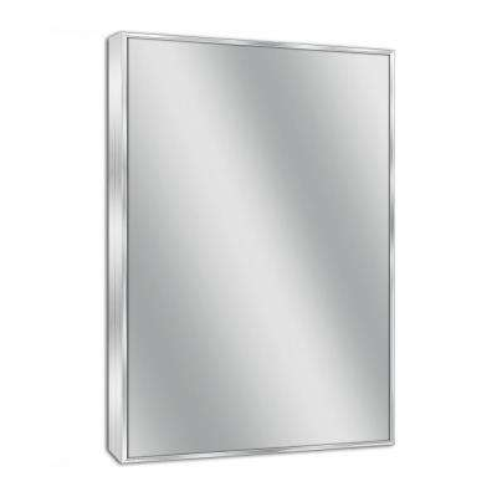 Spectrum 22 in. W x 34 in. H Metal Framed Wall Mirror in Brush Nickel