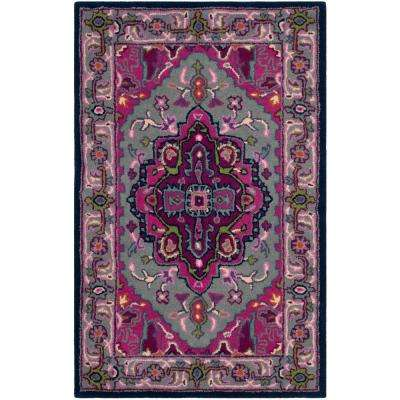 Bellagio Gray/Pink 3 ft. X 5 ft. Area Rug