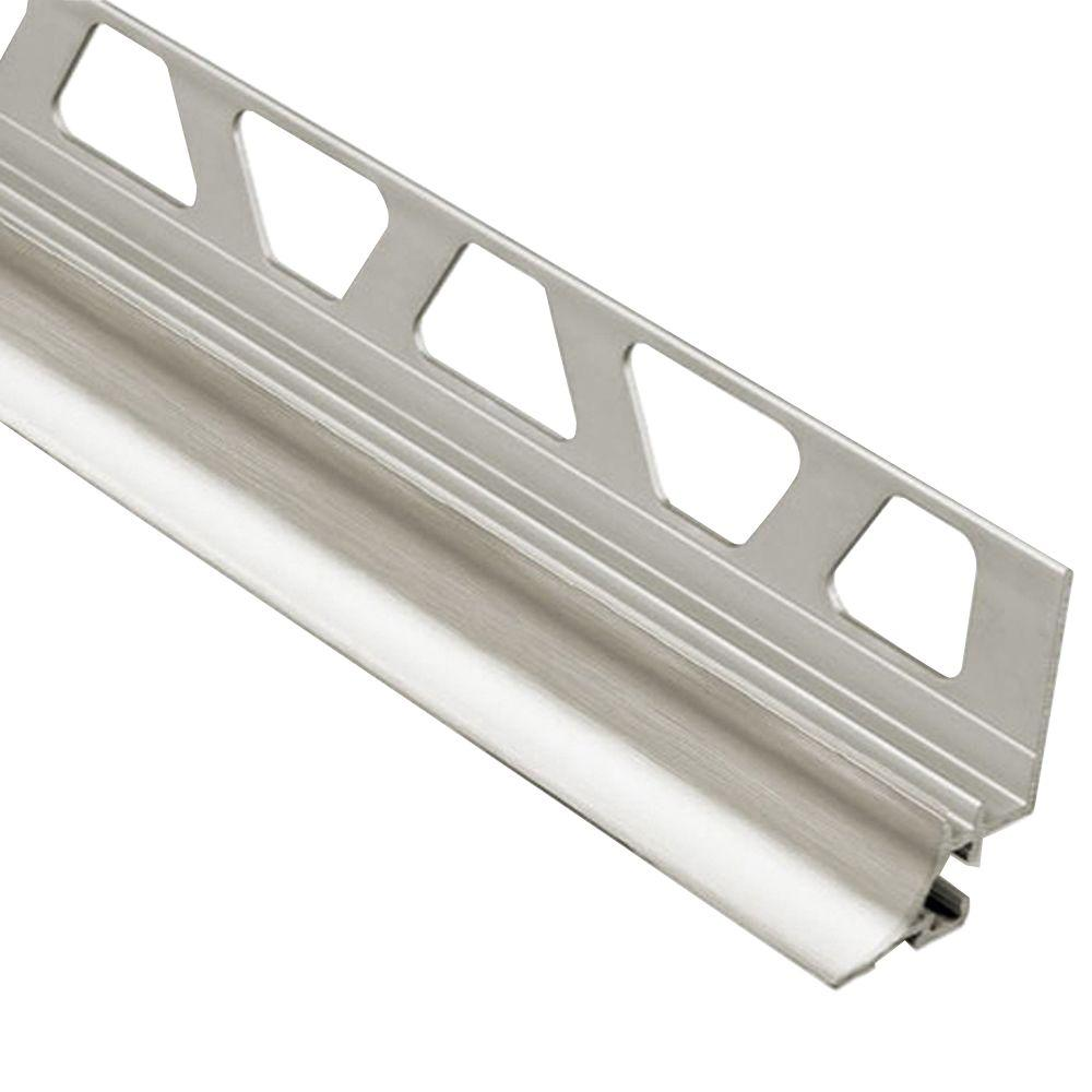 Dilex-AHKA Brushed Nickel Anodized Aluminum 9/16 in. x 8 ft. 2-1/2