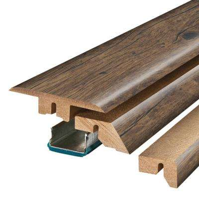 Rustic Grey Oak 3/4 in. Thick x 2-1/8 in. Wide x 78-3/4 in. Length Laminate 4-in-1 Molding