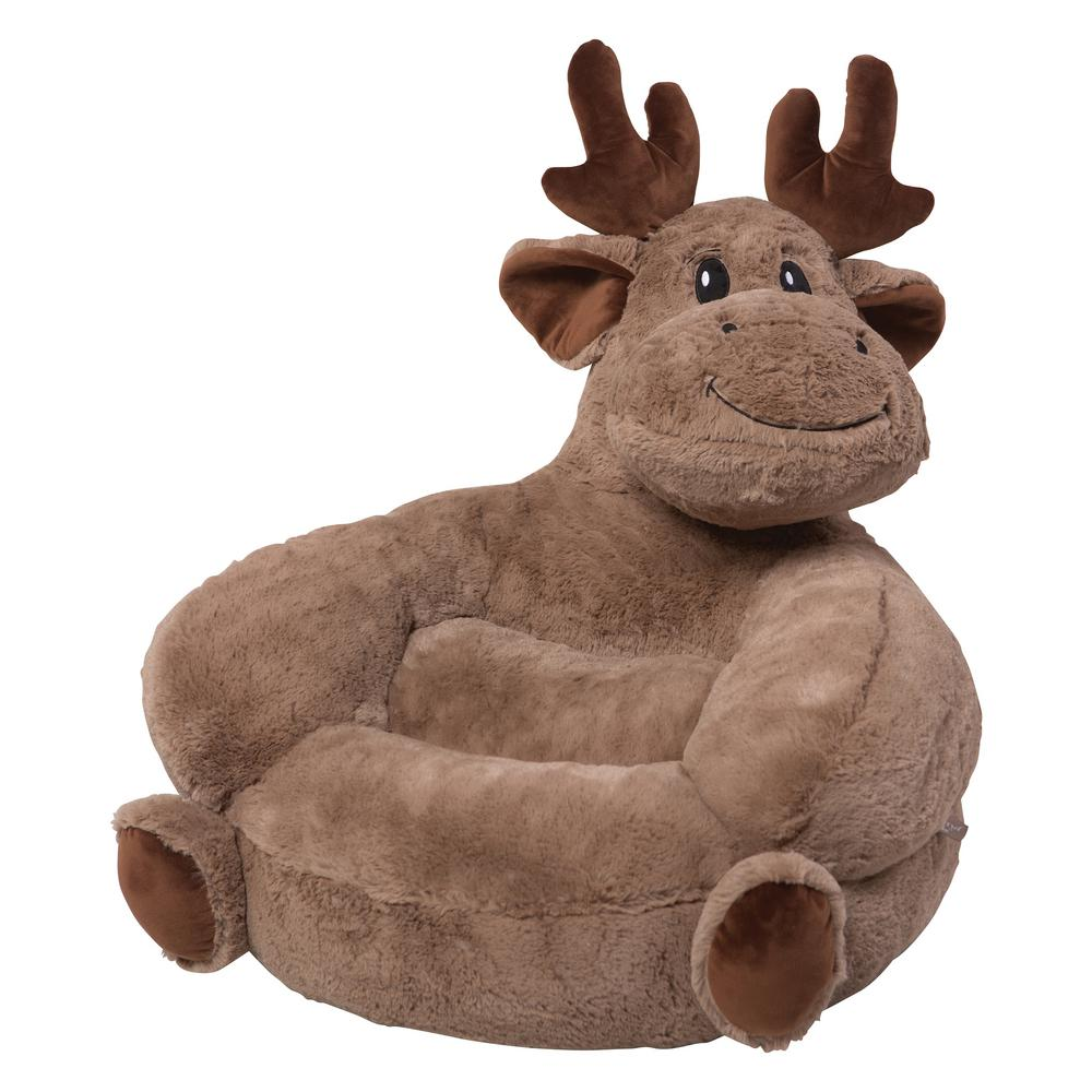 Trend Lab Brown Children S Plush Moose Character Chair 102650 The