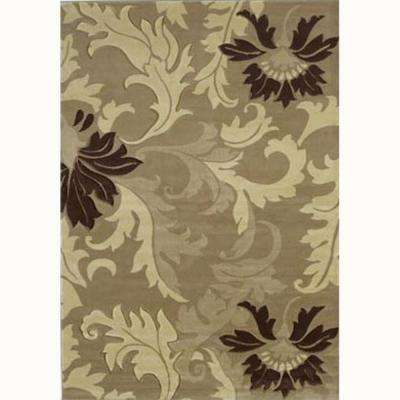 Orleans Beige 8 ft. x 11 ft. Contemporary Area Rug