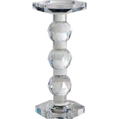 9.5 in. Sylvie Lead Crystal Pillar Candle Holder