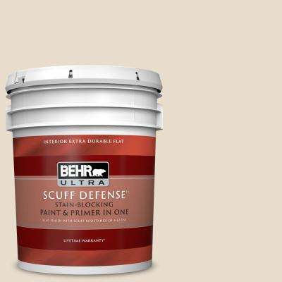 5 gal. #YL-W12 Antique White Extra Durable Flat Interior Paint and Primer in One