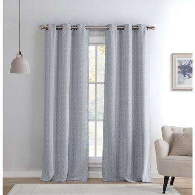 Blackout Maya 84 in. L Blackout Grommet Panel in Grey (2-Pack)