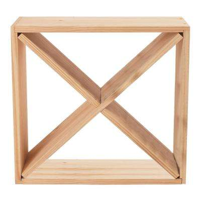 24-Bottle Compact Cellar Cube Wine Rack in Natural