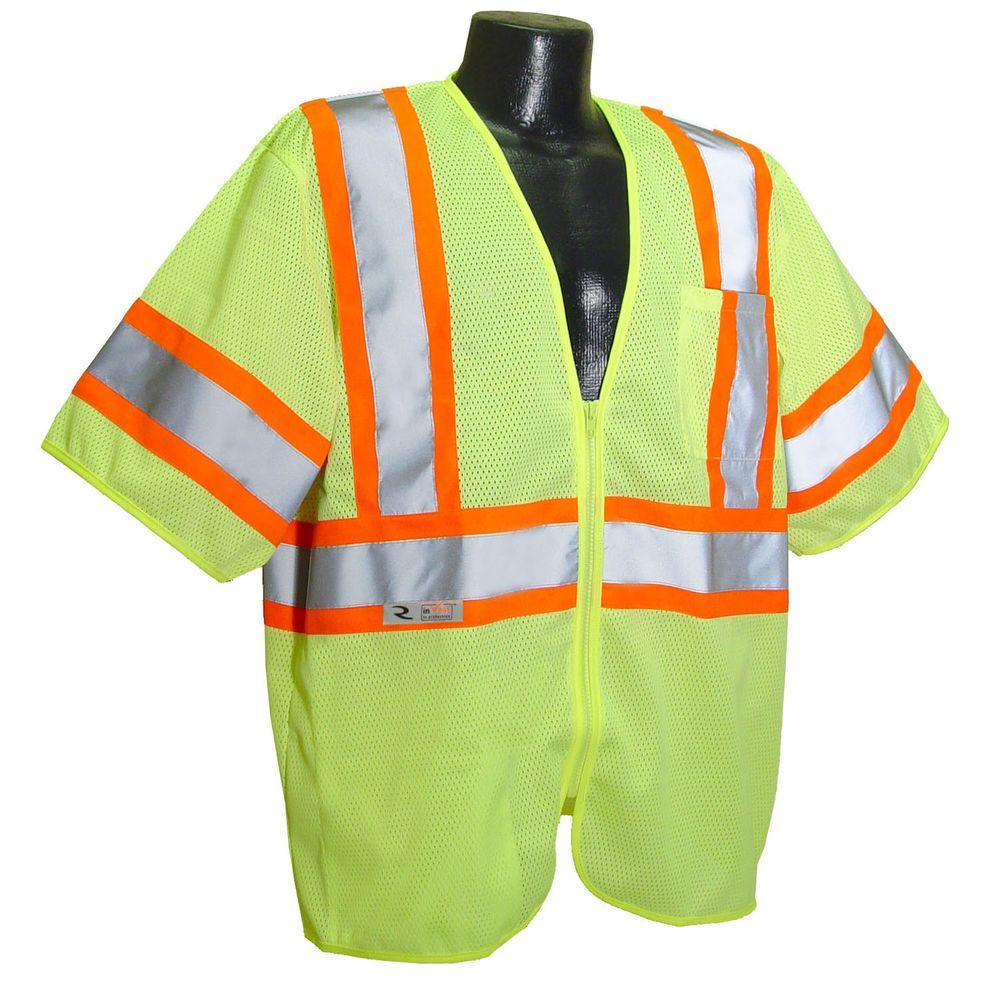 CL 3 with Contrast green Large Safety Vest
