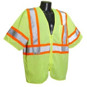 Radians CL 3 Tshirt with Contrast green 5X Safety Vest by Radians