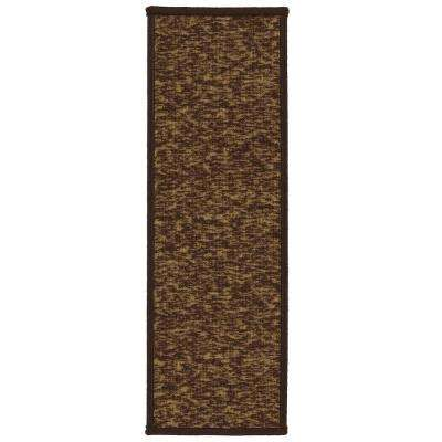 Escalier Collection Brown 8 in. x 26 in. Rubber Back Stair Tread (Set of 13)