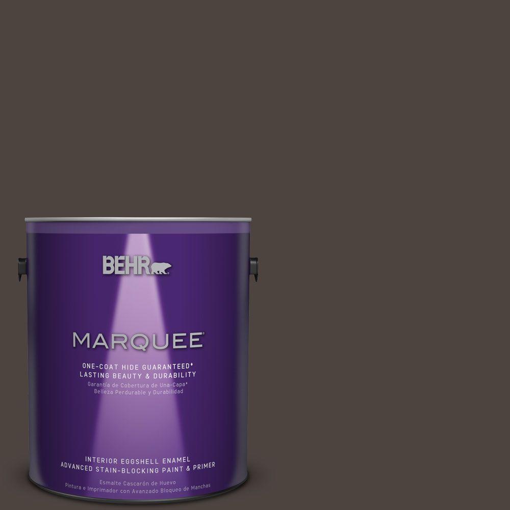 1 gal. #PPU5-1 Espresso Beans One-Coat Hide Eggshell Enamel Interior Paint