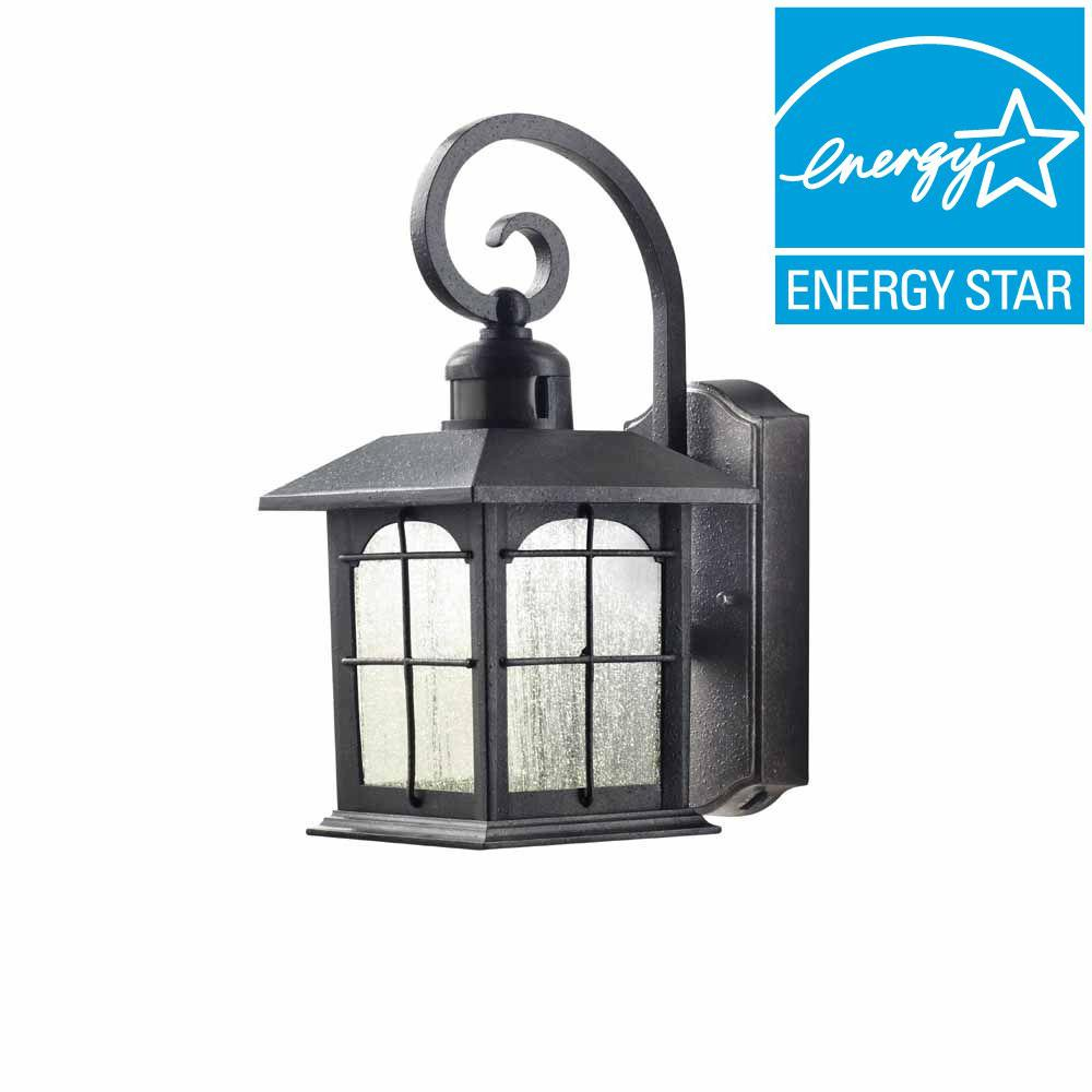 Home Decorators Collection Aged Iron Motion Sensing Outdoor LED ...