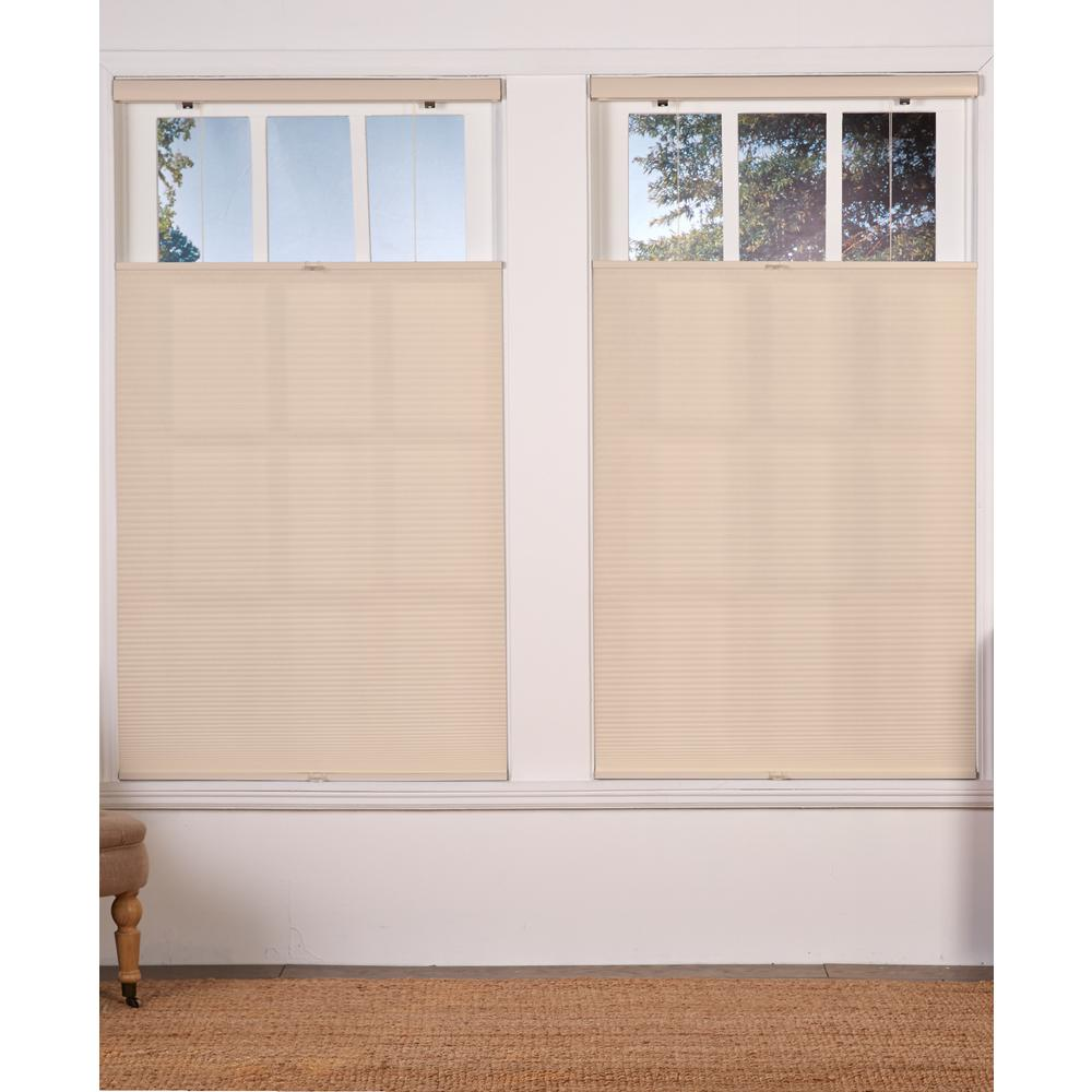 Perfect Lift Window Treatment Cut To Width Alabaster 1in Cordless Light Filter Top Down Bottom Up Cellular Shade 55in W X 72in L Hdqgal550720 The Home Depot