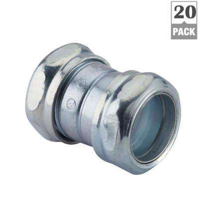 3/4 in. Electrical Metallic Tube (EMT) Compression Coupling (20-Pack)