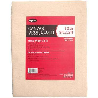 8 ft. 6 in. x 11 ft. 6 in., 12 oz. Canvas Drop Cloth