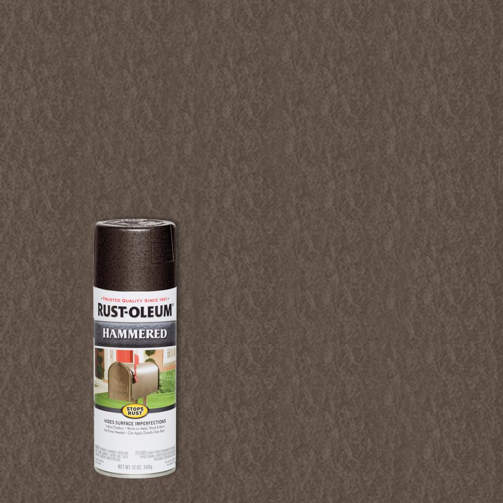 Rust Oleum Stops Rust 12 Oz Hammered Dark Bronze Protective Spray Paint