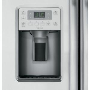 GE Profile 21.9 cu. ft. Side by Side Refrigerator in Stainless ...