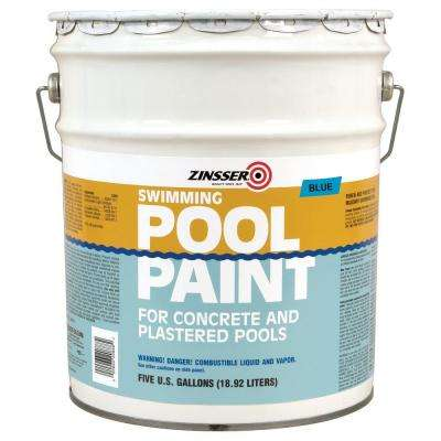 5 gal. Blue Flat Oil-Based Swimming Pool Paint