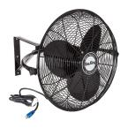 "20"" 1/6 HP 3-Speed Non-Oscillating Totally Enclosed Wall Mount Fan"