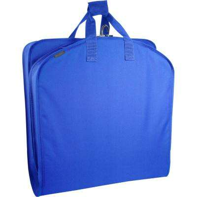 40 in. Royal Blue Suit Length Carry-On Garment Bag