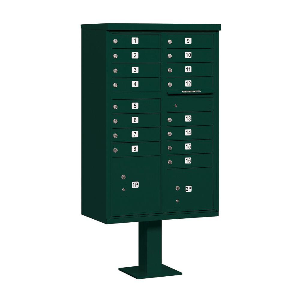 3300 Series Green Private 16 A Size Doors Type III Cluster