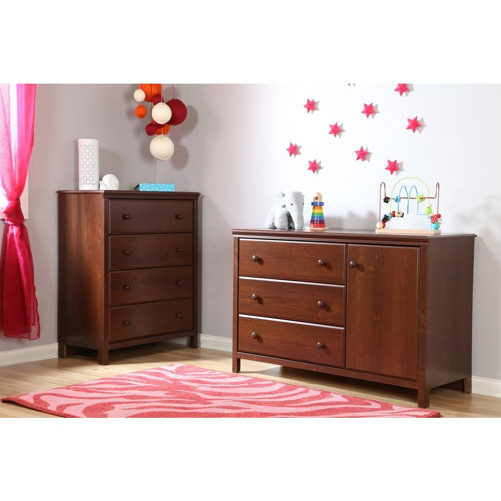 South S Cotton Candy 3 Drawer Sumptuous Cherry Changing Table