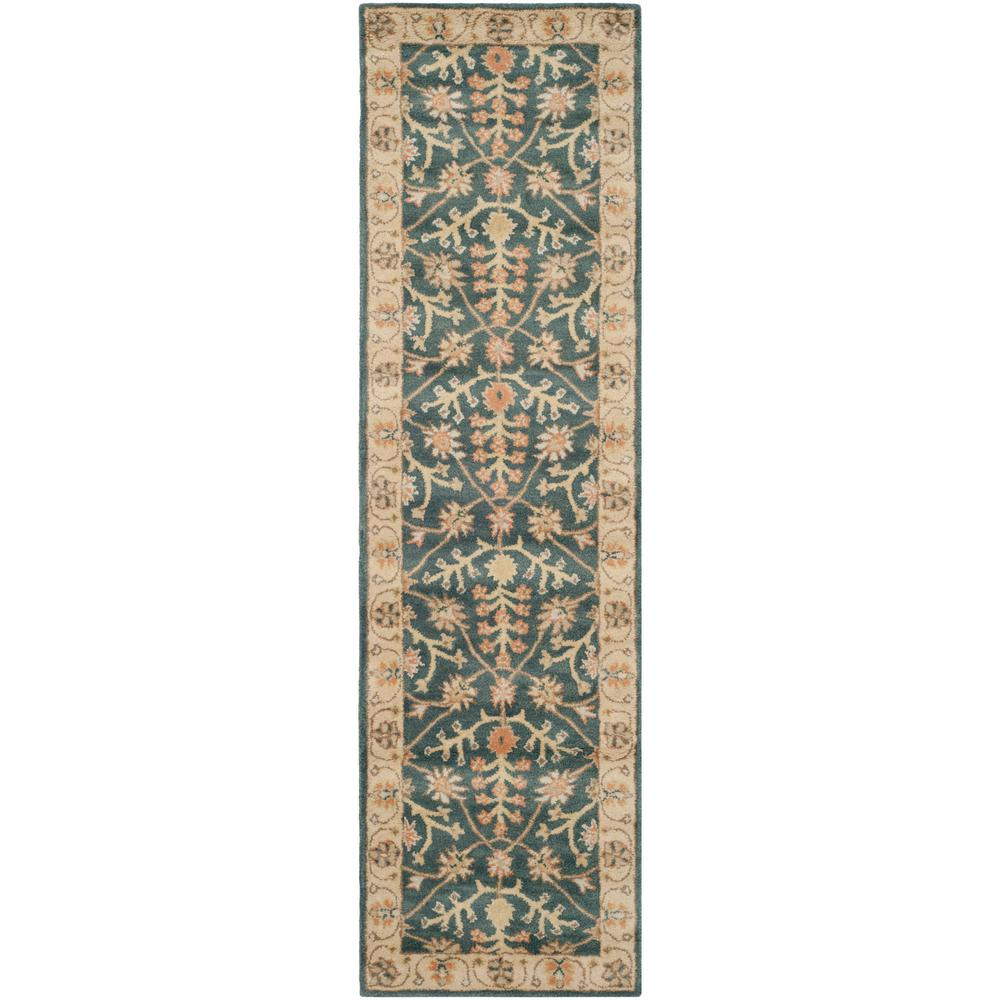 Classic Blue/Light Gold 2 ft. x 8 ft. Runner Rug