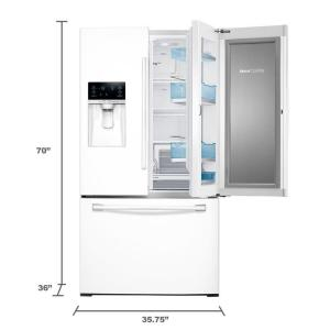 Samsung 27.8 cu. ft. Food Showcase French Door Refrigerator in White on